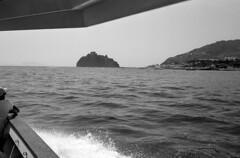 Aragonese Castle Ischia Italy (Ilya.Bur) Tags: aragonese castle ischia italy minox 35gt color minotar 35mm f28 adox silvermax 100 caffenolcl film analog travel bw sea boat tour