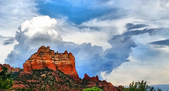 Rising (studioferullo) Tags: abstract art beauty bright colorful colourful colors colours contrast dark design detail downtown edge light natural old outdoor outside perspective pattern pretty scene serene tranquil sky study sunlight sunshine texture tone weathered world sedona arizona mountain red rock cloud strata formation ridge
