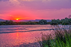 Red Glow Over The Snake River (http://fineartamerica.com/profiles/robert-bales.ht) Tags: forupload freshwater haybales idaho people photo places projects riverorstream southern states sunsetorsunrise snake sky outdoor dawn park sunset summer national scenery stream flyfishing sunrise valley usa recreation evening snakeriver outdoors unitedstates twilight fish reflection red sunreflection northwestphotography idahophotography beautiful sensational spectacular riverphotography panoramic awesome magnificent peaceful surreal canonshooter scenic clouds robertbales sun hazy glow riversedgepark