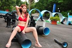 Sherry0033 (Mike (JPG直出~ 這就是我的忍道XD)) Tags: sherry 自來水博物館 d300 model beauty 外拍 portrait 2014 swimsuit 泳裝
