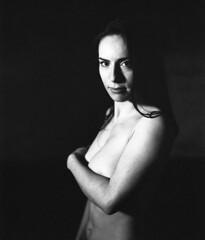in the dark (Analogsquare) Tags: pentax 6x7 takumar 10524 fuji neopan 400 naked nude girl young woman beauty analog film blackandwhite monochrome mediumformat female body