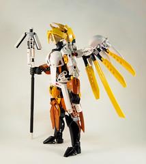 Overwatch - Mercy Side (0nuku) Tags: bionicle lego overwatch ow mercy angela zeigler support healer angel caduceus