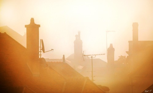 sur les toits de la ville.