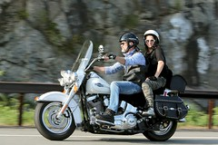 Harley-Davidson Heritage Softail 1708204080w (gparet) Tags: bearmountain bridge road goattrail goatpath scenic overlook outdoor outdoors motorcycle motorcycles motorcyclist windingroad curves twisties couple couples