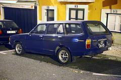 Datsun Sunny Wagon, Lisbon. (vetaturfumare - thanks for 2 MILLION views!!!) Tags: lisbon lisboa portugal street parked night sodium lissabon light yellow datsun nissan 310 b310 wagon van blue longroof