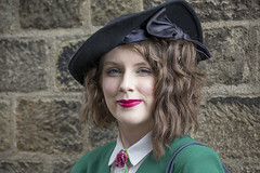 IMG_0040 - Samantha (David-Hall) Tags: pateleybridge 1940s girl samantha green 2017 hat