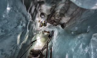 Exploring Roman's Glacier Crevasse
