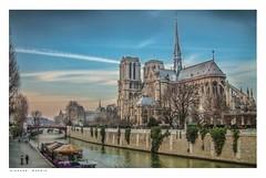Cathédrale Notre-Dame de Paris from Quai de Montebello. (Richard Murrin Art) Tags: cathédrale notredame de paris from quai montebello richard murrin art photography canon 5d landscape travel images building cool