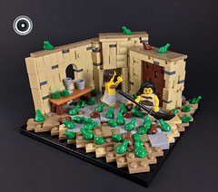 The Plague of Frogs - The Story of Moses (UrAsSaneAsIAm) Tags: lego innovalug 2017 moses biblical egypt frroooooogggzzzz
