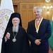 Semjén Zsolt miniszterelnök-helyettes, a KDNP elnöke az Országházban fogadta I. Bartolomaiosz konstantinápolyi ökumenikus pátriárkát