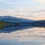 Lake Placid  ~ New York ~ Early Sunset  ~ Autumn Leaves thumbnail