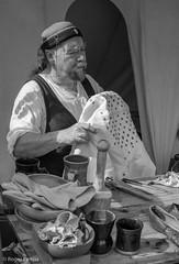 Steve- CRAFTSMAN, MEDIEVAL JOUST, BOLSOVER CASTLE_DSC_5893_LR_2.0 (Roger Perriss) Tags: bolsovercastle crafts joust leather medieval people steve d750 blackandwhite cobbler shoes