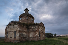 Abandoned Church (Oleg.A) Tags: ancient autumn saintnicolaschurch penzaregion russia church cloudy brick outdoor rural materials villiage ruined destroyed old summer abandoned interior building cathedral dome twilight orthodox architecture evening sunset nature landscape staryakutlya catedral landscapes outdoors staryykutlya penzenskayaoblast ru