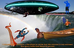 Mutant Monte Blue at Niagara Falls 9 1 2017 Part 2 UFO Returns 1 (Monte Mendoza) Tags: montemendoza superman greenlantern aquaman ironman mutant mutation ufo octopus canoe niagarafalls