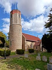 St. Andrew, Hasketon (1) (dogmarten28) Tags: church hasketon suffolk woodbridge standrew roundtower norman saxon decorated reverendthomasmaude brewsefamily eastanglia