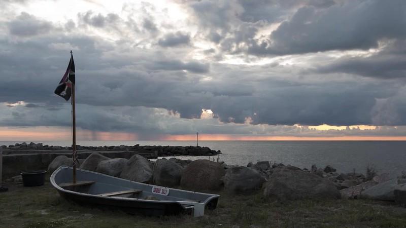 Sunset in Vang, Bornholm