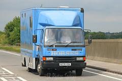 Leyland DAF 45 Horsebox N239 VDA (SR Photos Torksey) Tags: truck transport haulage hgv lorry lgv logistics road commercial vehicle freight traffic leyland daf 45 horsebox