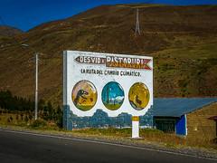 The tourist sign for the Pastoruri glacier which is our next destination.