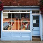 Blue window with clowns, Canterbury thumbnail