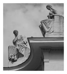 The Prague Perspectives (5) (kurtwolf303) Tags: monochrome statue einfarbig prag praha czechrepublic olympusem1 omd microfourthirds micro43 systemcamera mirrorlesscamera spiegellos unlimitedphotos building gebäude bw sw blackwhite 250v10f 500v20f 1000v40f topf25 topf50 topf75 topf100 1500v60f mft kurtwolf303