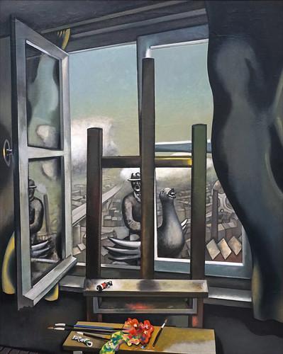 """""""La fenêtre grise"""" de Wolfgang Mattheuer (Musée Barberini, Potsdam)"""