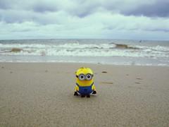 Minion an der Ostsee (ingrid eulenfan) Tags: minion figur objekt object ostsee strand beach meer figure ostseebadprerow spielzeug toy