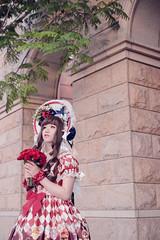 SDF_9654 (SendoFu) Tags: bonnet lolita ボンネット エプロン風スカート blouse bl ブラウス headbow kc カチューシャ bnt 蕾絲 維多利亞 jsk op onepiecedress ワンピース jumperskirt ジャンパースカート nop lolitafashion 蘿莉塔 蘿莉塔時裝 ロリータ・ファッション sweetlolita classicallolita