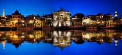 Haarlem Panoblue (l.cutolo) Tags: tlp water slowshutterspeed nd8 cloudysky pano longexposure city windmill cokinfilters ncg stackphotos night summer cityscape reflections worldtrekker sonya7ii flickr bluehours haarlem molen gradnd cloudy citylight dhrlike panoramic sonyfe2470mmf4zaoss