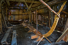 Building a boat (Askjell) Tags: borgund borgundgavlen møreogromsdal norway spjelkavik sunnmøre sunnmøremuseum boat boathouse viking ålesund