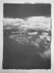 Somewhere over the Caribbean sea (dwerg85) Tags: gum print alternativeprocess alternative process gumprint blackandwhite bw plane