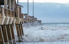 Jennette's Pier-3761 (RogerDMulligan) Tags: nagshead northcarolina unitedstates us jennettes pier waves hurricane jose outerbanks ocean beach