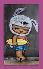 bunny surfer (Greg Rohan) Tags: pink canvaswalls surfer thailand patongbeach urbanart streetart paintedwalls paintedstreetart artist artwork art arte d7200 2017