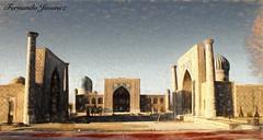Registan Square (alanchanflor) Tags: madraza uzbequistán plaza samarkanda azul cielo canon arquitectura asia arcos cúpulas