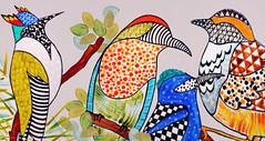 Pri Sathler. Coleção Pássaros Brasileiros (2013). Pintura em porcelana