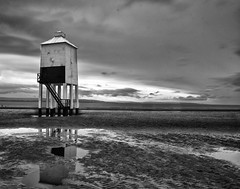 BurnhamLighthouseB&W (steveahorton) Tags: lighthouse burnham seascape monochrome seaside beaches black white long exposure leefilters nikon