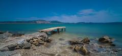 Old wooden pier. (PvRFotografie) Tags: griekenland greece lesbos lesvos water sea seashore zee gerasbay pier nature natuur sonyilca99m2 sigma1224mm 12mm leesw150 leesuperstopper nd filter groothoek wideangle