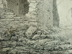 SUVÉE Joseph Benoît - Les Ruines d'un Monument carré, d'une Abside et d'un Acqueduc (drawing, dessin, disegno-Louvre INV32985) - Detail 13 (L'art au présent) Tags: art painter peintre details détail détails detalles drawings dessins dessins18e 18thcenturydrawings dessinsfrançais frenchdrawings peintresfrançais frenchpainters museum paris france ruines ruins stone stones pierre pierres pont bridge acqueduc nature apse fortification édifice building forteresse stronghold fortress croquis étude study sketch sketches antique antiquity ancient antiquités sacred holy blessed figure personnes people femme femmes woman man men