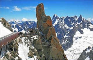 A l'Aiguille du Midi (3842m), Haute Savoie, Alpes, France