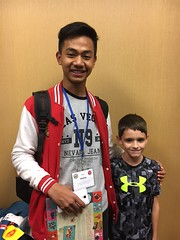 Haqi and Shane (AFS-USA Intercultural Programs) Tags: siblings 2017 arrivals sponsoredprograms yes brother host