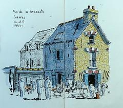 La brocante se termine (Jean-Paul Rivière) Tags: watercolour sketch pittartistpen pentel aquarelle croquis