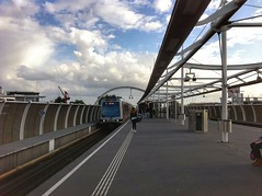 RET metro station Vijfsluizen (sander_sloots) Tags: ret vijfsluizen subway metro train set schiedam vlaardingen metrostation clouds wolken