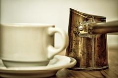 Ελληνικός Kαφές ... Greek Coffee. (Blues Views) Tags: collective52photoproject canon50mmf14 canon600d coffee greek greekcoffee coffeecup cup μπρίκι briki καφέσ ελληνικόσ