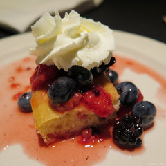 Summer berry shortcake (Coyoty) Tags: carbonesristorante hartford connecticut ct italian restaurant food bokeh red yellow white summer berry shortcake dessert whippedcream cake blueberries strawberries raspberries sweet blue squareformat square beauty beautiful vanilla round fruit wow