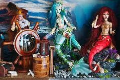 "Diorama ""sea and pirates"" complete! (vanyrei) Tags: diorama bjd mermaid fairyland sia minifee mirwen soom serin chloe dyebjd handmade fantasy occharacter sea pirate ship showcase collection balljointedoll"