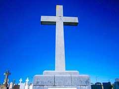 The cross (Kinsella Media) Tags: cross religious religion cemetary graveyard monument stone crucifix blue sky ireland arklow wicklow irl eire irish eireann
