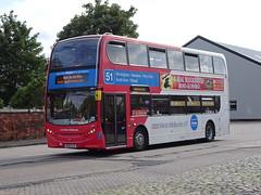West Midlands 4862 Birchills (Guy Arab UF) Tags: west midlands 4862 bx16lle alexander dennis e400d enviro 400 birchills bus depot walsall buses