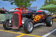 Hot Rod On Fire (swong95765) Tags: hotrod custom vehicle automobile convertible paint beauty