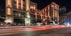 US Grant Hotel (20170728-DSC03387) (Michael.Lee.Pics.NYC) Tags: sandiego hortonplazapark usgranthotel broadway night longexposure lighttrail traffictrail architecture sony a6500 voigtlanderheliar10mmf56