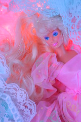I cant stop the loneliness (Vuffy VonHoof) Tags: barbie doll dolls cool fun retro vintage 80s 90s pink pastel girly birthday party princess glitter lace hair fluffy