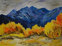 Blue Mountains - by me (BKHagar *Kim*) Tags: bkhagar art artwork painting paint acrylic artday